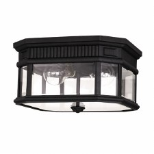 Feiss Cotswold Lane FLush Ceiling Light Black