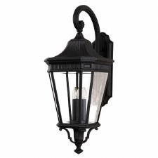 Feiss Cotswold Lane Large Wall Lantern Light Black