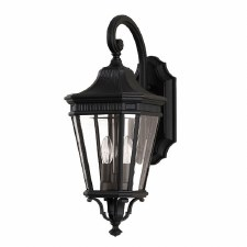 Feiss Cotswold Lane Medium Wall Lantern Light Black