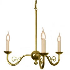 Cottage 3 Light Pendant Polished Brass