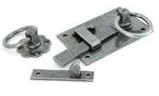 From The Anvil Cottage Rim Latch RH Pewter