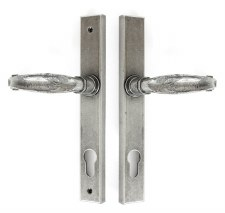 From The Anvil Slim Cottage Espagnolette Door Handles Pewter