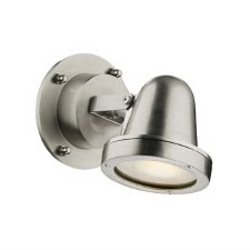 David Hunt COV0738 Cove Outdoor Wall Light Nickel IP44