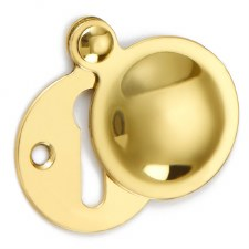 Croft Covered Escutcheon 1783 Polished Brass Unlacquered