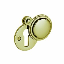 Victorian Constable 615 Covered Escutcheon Polished Brass Lacquered
