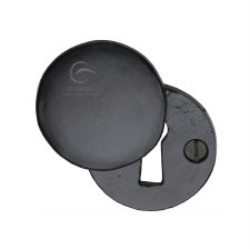 Heritage Covered Escutcheon FB554 Black Iron Rustic