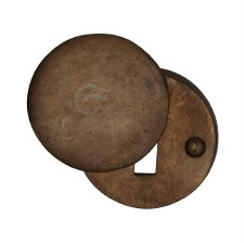 Heritage Covered Escutcheon RBL554 Solid Bronze Rustic