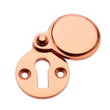Covered Heavy Escutcheon Polished Copper