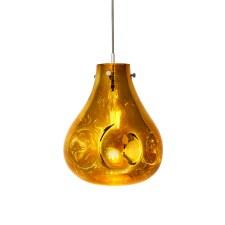 Cranborne Glass Pendant Gold Metallic
