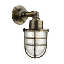 David Hunt CRE1575 Crewe Outdoor Wall Light Antique Brass IP44