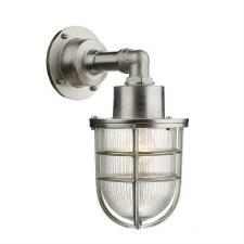 David Hunt CRE1538 Crewe Outdoor Wall Light Nickel IP44