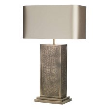 David Hunt CRO4200 Croc Table Lamp with Shade Bronze