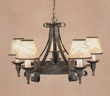 Cromwell 5 Light Chandelier Black Gold