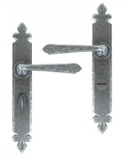 From The Anvil Cromwell Bathroom Door Handles Pewter