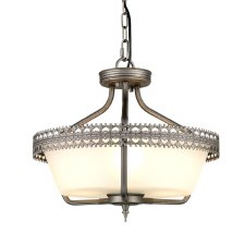Elstead Crown Semi Flush Pendant