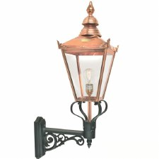 Elstead Chelsea Outdoor Wall Uplight Light Lantern with Bracket