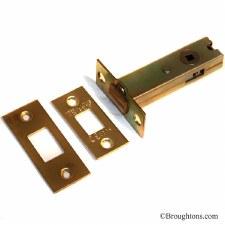 Tubular Deadbolt 80mm Polished Brass