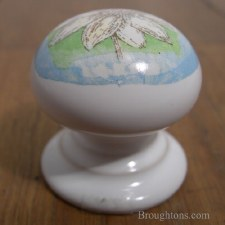 Porcelain Cupboard Door Knob Springtime