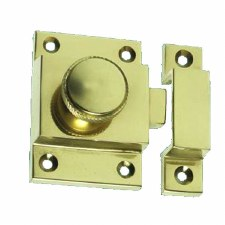 Traditional Cupboard Catch Polished Brass