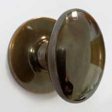 Aston Oval Cupboard Door Knob 32mm Polished Solid Bronze Antiqued