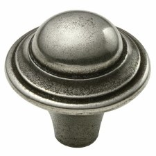 Finesse Hadden Cupboard Door Knob 40mm PCK011 Solid Pewter