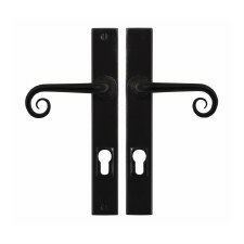 Stonebridge Curl Entry Multipoint Door Handle Armor Coat Flat Black