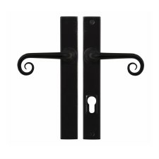 Stonebridge Curl Patio Multipoint Door Handle Armor Coat Flat Black