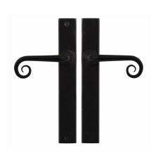Stonebridge Curl Passage Multipoint Door Handle Armor Coat Flat Black