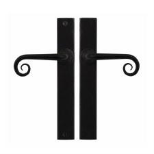 Stonebridge Curl Passage Multipoint Door Handle Armor Coat Flat Black