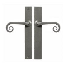 Stonebridge Curl Passage Multipoint Door Handles Armor Coat Satin Steel