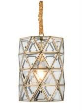 Cylinder Glazed Pendant No.1816 Mellow Brass