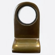 Aston Cylinder Door Pull Polished Solid Bronze Antiqued