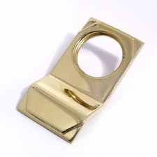 Art Deco Cylinder Door Pull Polished Brass Unlacquered