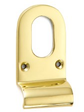 Croft Cylinder Pull 1773 Oval Profile Polished Brass Unlacquered