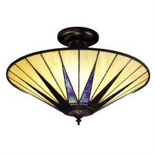 Interiors 1900 Dark Star Semi Flush Ceiling