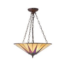 Interiors 1900 Dark Star Tiffany Large Inverted Pendant 70754