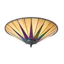 Interiors 1900 Dark Star Tiffany Large Flush Light 70240