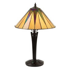 Interiors 1900 Dark Star Tiffany Small Table Lamp 70367