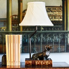 Daschund Dog Table Lamp with Shade