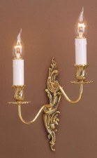 Dauphine Double Wall Light Right Hand Polished Brass