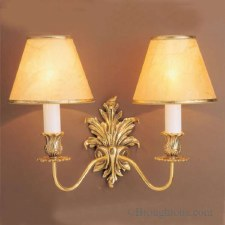 Dauphine Double Wall Light Polished Brass