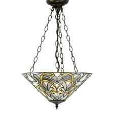 Interiors 1900 Dauphine Tiffany Inverted Ceiling Pendant Light