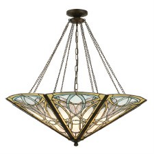 Interiors 1900 Dauphine Tiffany Mega Ceiling Pendant Light