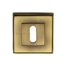 Heritage DEC7000 Square Escutcheon Antique Brass Lacquered