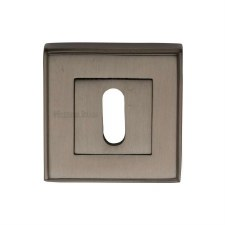 Heritage DEC7000 Square Escutcheon Matt Bronze Lacquered