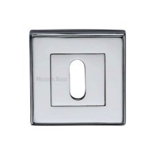 Heritage DEC7000 Square Escutcheon Polished Chrome