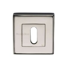 Heritage DEC7000 Square Escutcheon Polished Nickel