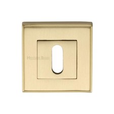Heritage DEC7000 Square Escutcheon Satin Brass Lacquered