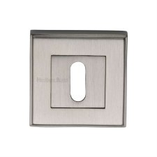 Heritage DEC7000 Square Escutcheon Satin Nickel