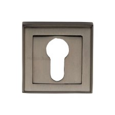 Heritage DEC7020 Square Euro Escutcheon Matt Bronze Lacquered